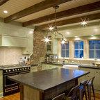 Model Home Starr Homes Llc Rustic Kitchen Kansas
