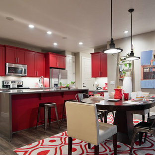 Red Kitchen Island Houzz