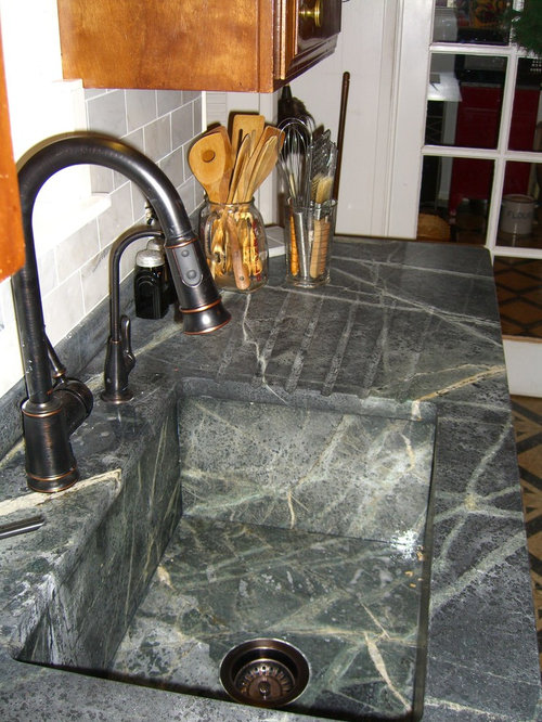 how to clean soapstone sink