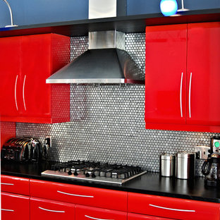 Soapstone on metal cabinets