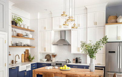 Before and After: 5 Beautiful Blue-and-White Kitchen Makeovers