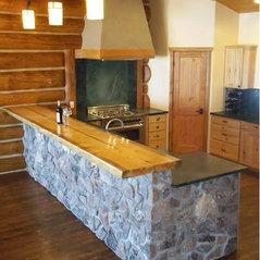 soda springs log home - Design Homes Inc