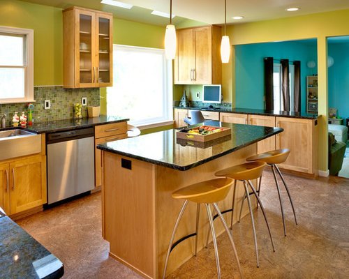 Transitional Kitchen Photo In Philadelphia With Stainless Steel Appliances,  A Farmhouse Sink, Granite Countertops