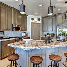 Mediterranean Kitchen by Ivory Homes