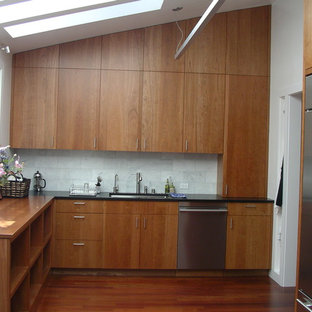 Cherry Cabinet Backsplash Houzz