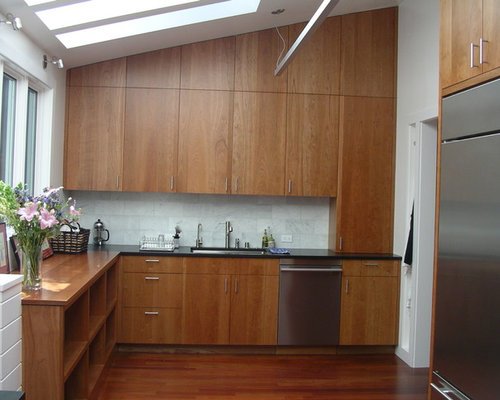 Natural Cherry Cabinets Kitchen