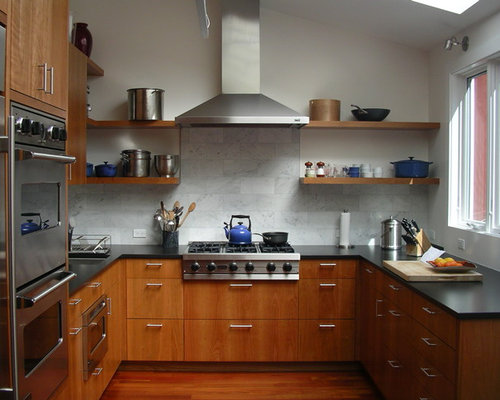 Kitchen Backsplash Cherry Cabinets cherry cabinet backsplash | houzz