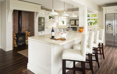 A Bright Kitchen Addition With a Wood-Burning Stove