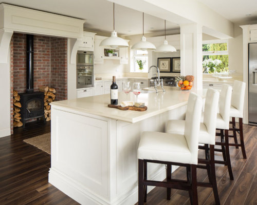 Inspiration For A Timeless Kitchen Remodel In Dublin With Beaded Inset  Cabinets And White Cabinets