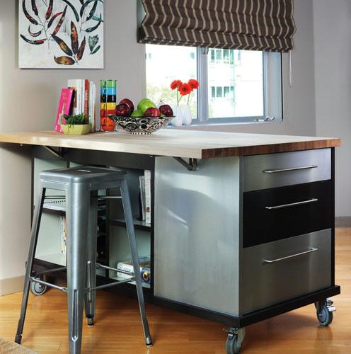 Small Kitchen Design Houzz: Small Kitchen Island Designs
