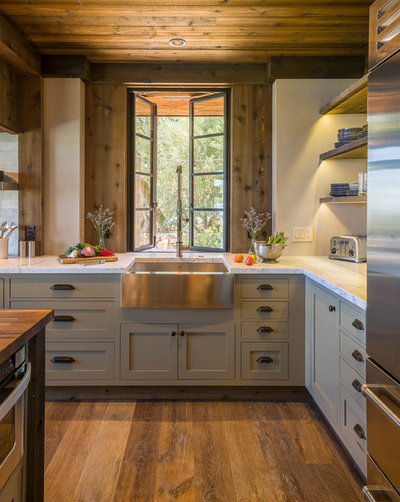 Rustic Kitchen by Barbra Bright Design