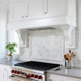 Soothing White and Gray Kitchen Remodel