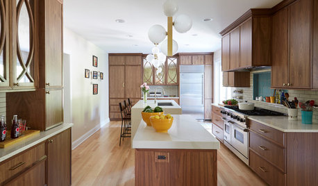 2 Islands Pack Function Into a Long, Narrow Kitchen