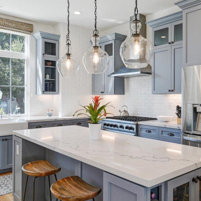 Mid-sized transitional light wood floor kitchen photo in San Francisco