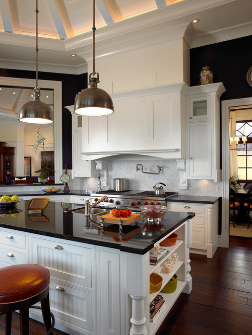 White Cabinets Black Countertop Home Design Ideas, Pictures, Remodel ...