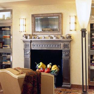 Idéer för mycket stora funkis kök, med en enkel diskho, släta luckor, skåp i rostfritt stål, bänkskiva i kalksten, flerfärgad stänkskydd, stänkskydd i marmor, rostfria vitvaror, marmorgolv, en köksö och flerfärgat golv