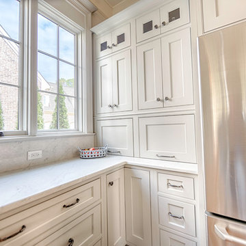 Sophisticated Soft Grey Kitchen   Waterfall