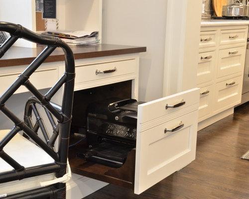 Hidden printer drawer houzz for Secret drawer kitchens