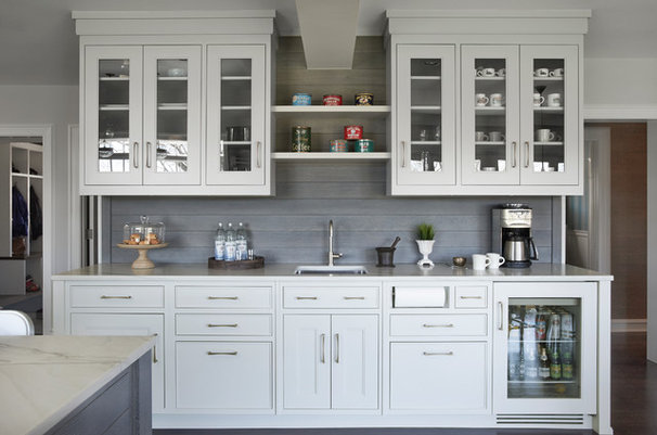 Kitchen of the week colonial kitchen opens up to scenic views for Cerused oak kitchen cabinets