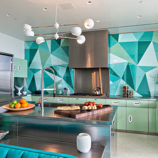 Contemporary Kitchen Pictures   Inspiration For A Contemporary U Shaped  Kitchen Remodel In Miami With
