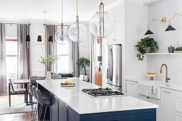 Transitional Kitchen by Arazi Levine Design