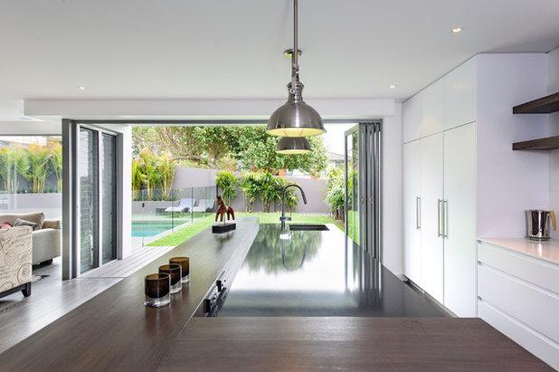 Køkken: 19 moderne, hvide køkkener som houzz læserne elsker