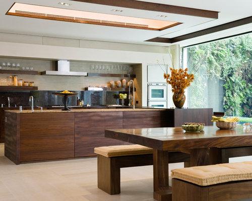 Modern asian kitchens houzz for Modern japanese kitchen design by toyo kitchen