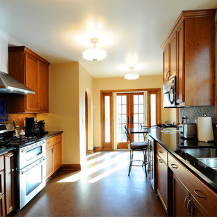 Contemporary kitchen remodeling - Example of a trendy kitchen design in Minneapolis