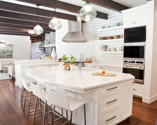 Transitional kitchen design ideas remodel pictures houzz - Kitchen transitional design ideas ...