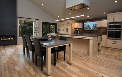 Kitchen Islands Kitchen Of The Week: A Handy Rollout Dining Table Adds  Flexibility