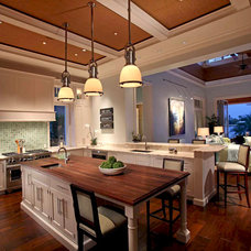 tropical kitchen by Windover Construction