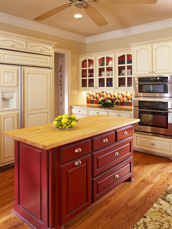 Cream Colored Kitchen Cabinets | Houzz