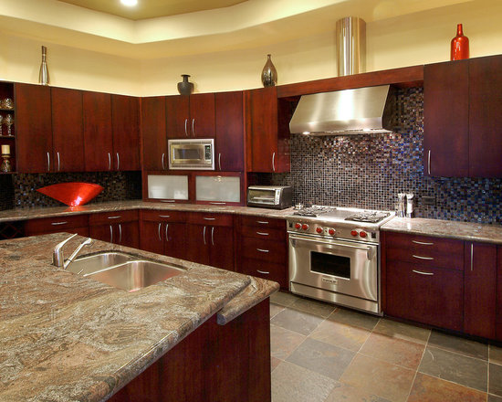 Nice Kitchens With Cherry Wood Cabinets Photo Gallery