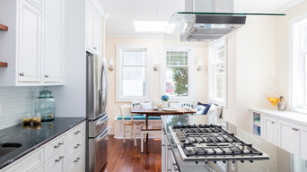 Spa Tuscany Super White Glass Tile Kitchen By Wendy Christmas