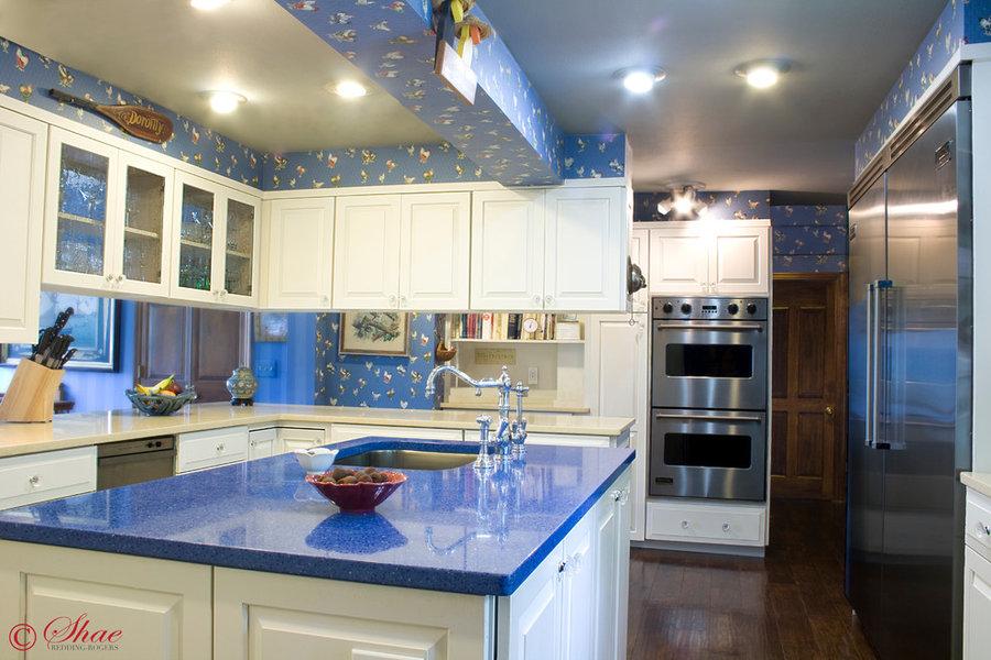 Spacious Blue Kitchen