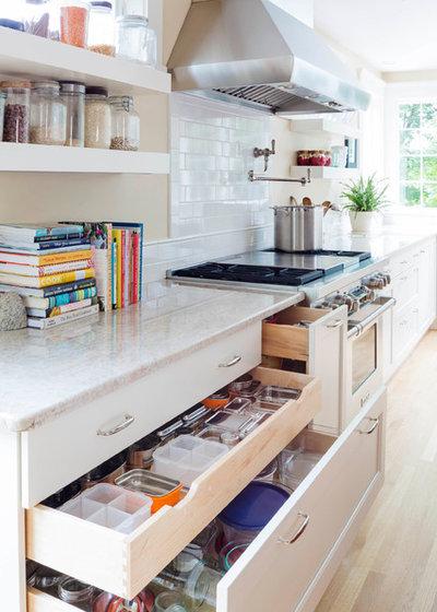 Transitional Kitchen by Kitchen Center of Framingham