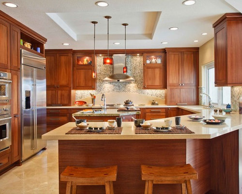 angled peninsula ideas, pictures, remodel and decor, Kitchen