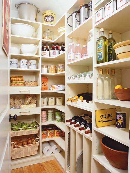 Pantry Design Ideas mind blowing kitchen pantry design ideas Example Of A Large Classic L Shaped Kitchen Pantry Design In New York With Open