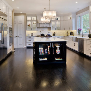 Spacious Modern White Design Brings New Light to Busy Kitchen