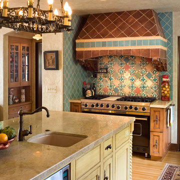 Spanish Colonial Styled Kitchens and Baths From Quality Custom Cabinetry