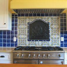 Mediterranean Kitchen by Via Builders Inc