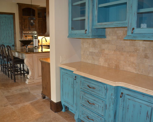 Turquoise Kitchen Design Ideas, Renovations & Photos with ...
