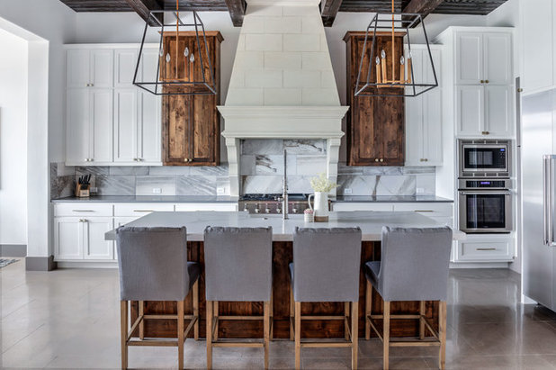 Transitional Kitchen by Etch Design Group