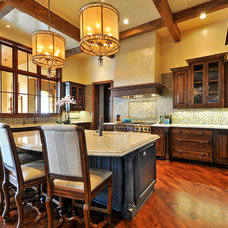 Rustic Kitchen by Interior Selections Austin