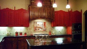 Spanish Revival Kitchen and Backsplash Mural