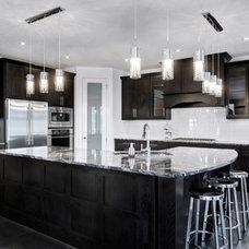Transitional Kitchen by Addison Grace Design