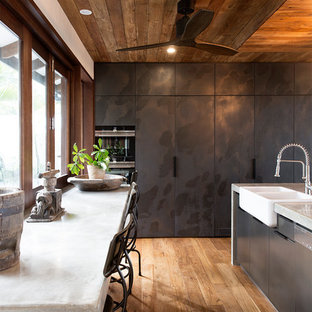 Tropical kitchen designs - Inspiration for a tropical medium tone wood floor and brown floor kitchen & Houzz | 50+ Best Tropical Kitchen Pictures - Tropical Kitchen Design ...