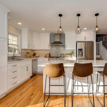 Split level home remodel