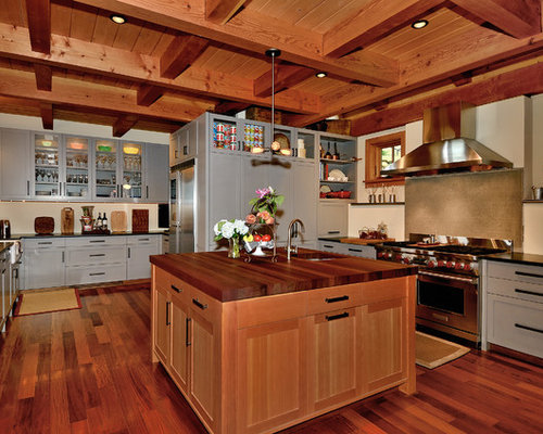 27,834 Light Maple Cabinets + Gray Walls Kitchen Design Ideas & Remodel Pictures   Houzz