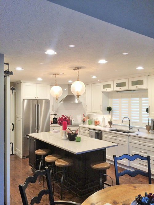 1,009 Mid-Sized Eclectic L-Shaped Kitchen Design Ideas & Remodel Pictures | Houzz